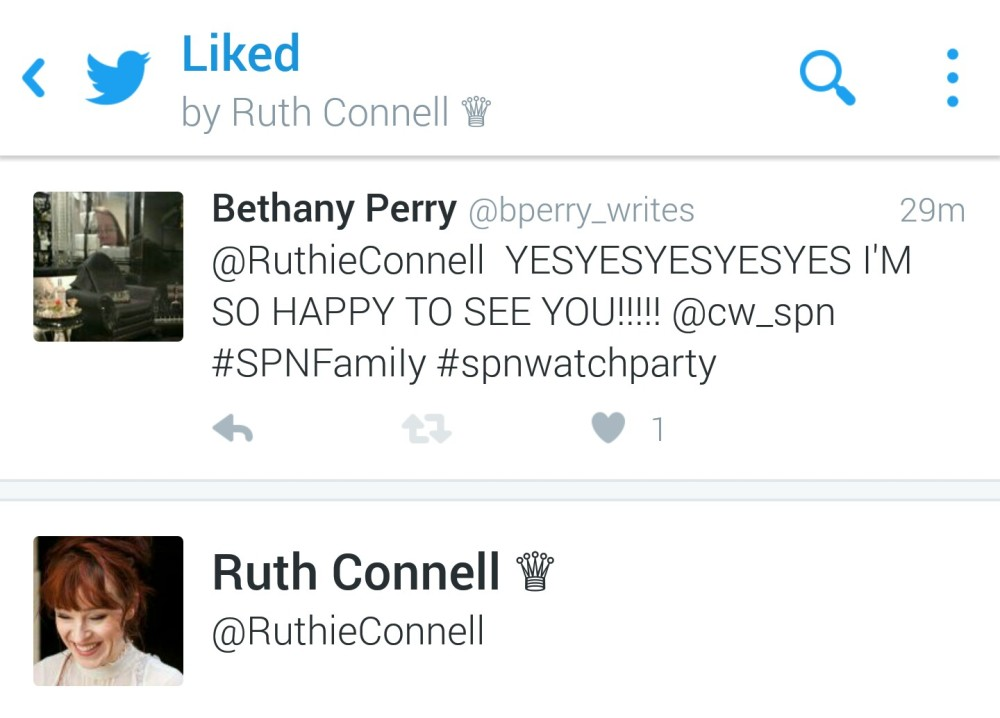 ruth liked my tweet